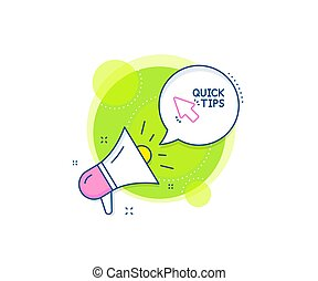 Quick tips click line icon. Helpful tricks sign. Vector