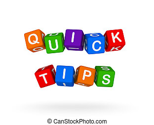 Quick Tips Colorful Sign