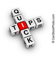 quick tips crossword puzzle