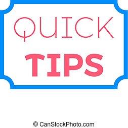 Quick tips Flat vector illustration