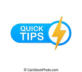 Quick tips, hint, helpful tricks, tooltip for website. Creative banner with useful information. Vector illustration.