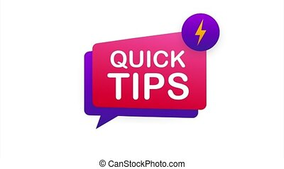 Quick tips icon badge. Ready for use in web or print design. stock illustration