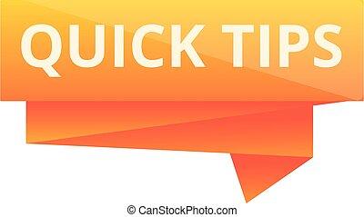 Quick tips icon, cartoon style