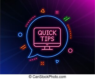 Quick tips line icon. Helpful tricks sign. Vector
