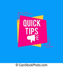 Quick tips Modern helpful tips banner Vector illustration