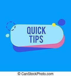 Quick tips Modern helpful tips banner Vector illustration