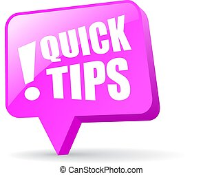 Quick tips pin icon