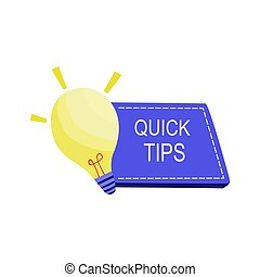 Quick Tips Simple Vector with yellow lamp
