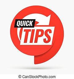 Quick tips. Symbol or emblem.