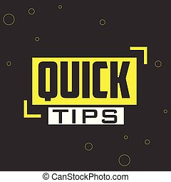 Quick tips vector illustration concept Colorful banner