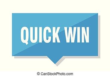quick win price tag - quick win blue square price tag