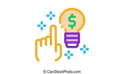 quick wit decision Icon Animation. color quick wit decision animated icon on white background
