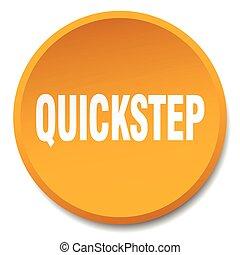 quickstep orange round flat isolated push button