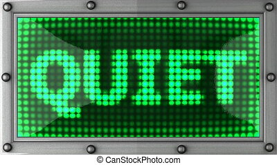quiet announcement on the LED
