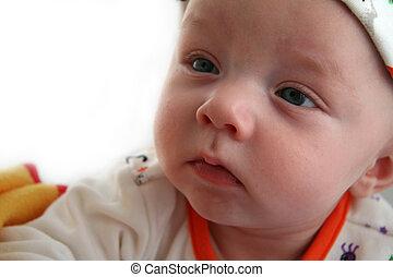 Quiet Baby Boy Looking On