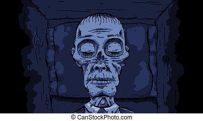 Quiet Cartoon Corpse - A quiet cartoon corpse rests...