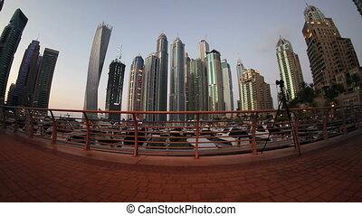 quiet Dubai Marina