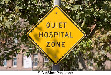 Quiet Hospital Sign