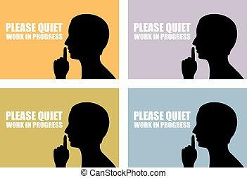 Quiet icon - Quiet vector sign