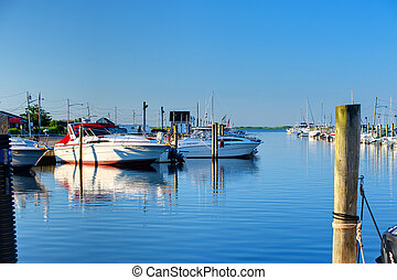 Quiet Marina - Quiet Long Island Marina in Summer Morning...