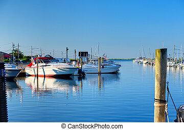 Quiet Marina - Quiet Long Island Marina in Summer Morning...