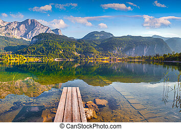 Quiet morning on the Grundlsee lake