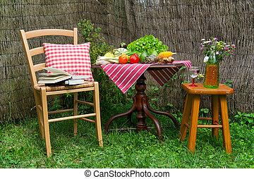 Quiet place in the garden