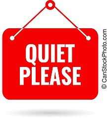 Quiet please vector sign