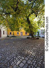Quiet street corner