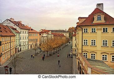 quiet street in the old Prague