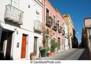 Street of Villanova, District of Cagliari