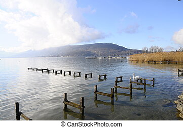 Quiet view of Annecy lake