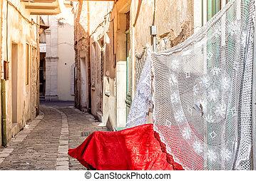 Quiet village street of Pano Lefkara. Larnaca District, Cyprus