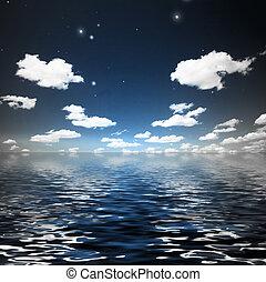 Quiet - Waters are still beneath sky