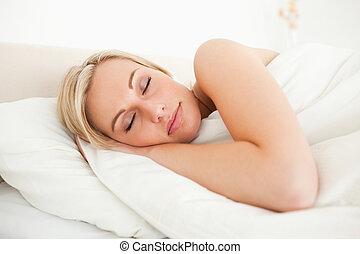 Quiet woman sleeping