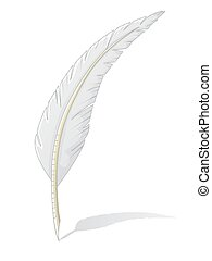 Quill isolated on white