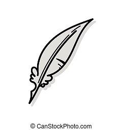 Quill pen doodle