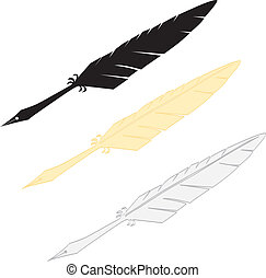 Quills - The vector illustration of the quill pen