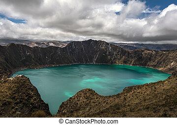 Quilotoa caldera - Quilotoa is a water-filled caldera that...