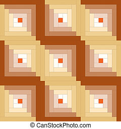 Quilt Block, Log Cabin Pattern