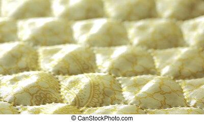 quilt., point, il, jaune, ou, fond, texture.