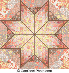 Quilt seamless pattern background star design - Quilt...