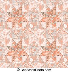Quilt seamless pattern background star shape - Quilt vector...