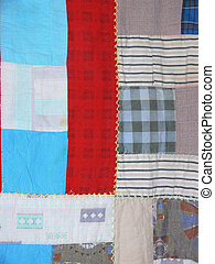 Quilt - The strong vertical line of an antique quilt