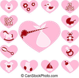 Quilted baby buttons for a girl - 15 Adorable baby buttons ...