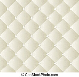quilted fabric - creamy background with ornaments