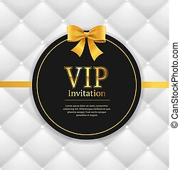 Quilted Invitation Card. Vector