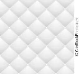 Quilted Pattern with Squares Decorative Background White Abstract Soft Texture. Vector illustration