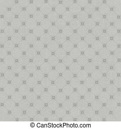 Quilted soft white fabric panel with a geometric pattern. 3d rendering.