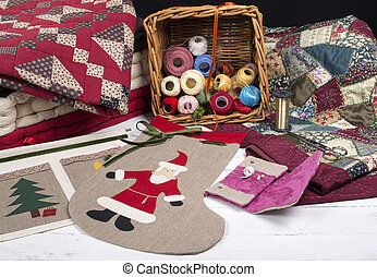 various items for quilting and embroidery